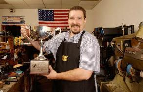 Larry with his 2003 Grand Silver Cup Award
